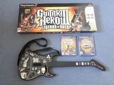 PS2 Guitar Hero kitara + pelejä