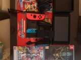 Nintendo switch V2, 32gb SD & pelej